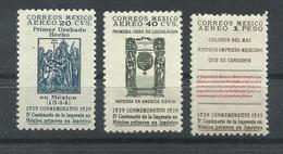 MEXICO YVERT AEREO 90/92      MNH  ** - México
