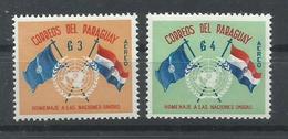 PARAGUAY YVERT AEREO 264/65  MH  * - Paraguay