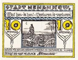 Billet Allemand - 10 Pfennig - Neubukow 1922 - Schäfer Avec Herde, Stadtwappen - Lokale Ausgaben