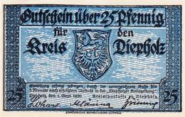 Billet Allemand - 25 Pfennig - Diepholz 1920 - Bauernhof - Lokale Ausgaben