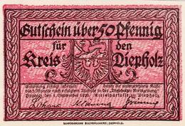 Billet Allemand - 50 Pfennig - Diepholz 1920 - Chateau - Lokale Ausgaben