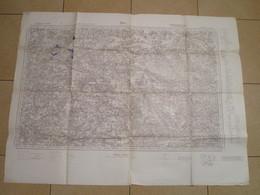 Carte D'Etat-Major En Allemand Au 1/80.000ème - GIEN - 1939-45
