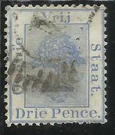 ORANGE FREE STATE STATO LIBERO 1868 1900 TREE ALBERO PENNY VIOLET DRIE PENCE TWO 2p 1894 USED USATO - Sud Africa (...-1961)
