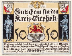 Billet Allemand - 50 Pfennig - Diepholz 1921 - Lemförde Anno 1621, Ritter Et Stadtwappen - Lokale Ausgaben