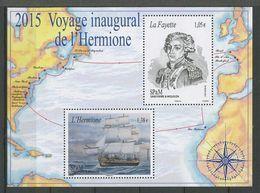 SPM Miquelon 2015 N° F1137 ** ( 1137/1138 ) Neuf MNH Superbe Bateaux Voiliers Frégate L' Hermione La Fayette Transports - St.Pierre Et Miquelon