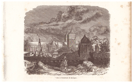 1844 - Gravure Sur Bois - Quimper (Finistère) - La Cathédrale - FRANCO DE PORT - Prints & Engravings