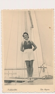 REAL PHOTO - Pretty Woman In Shorts On Sailboat On Beach, Femme,  Plage, Makarska Croatia Foto Kapista ORIGINAL - Anonymous Persons