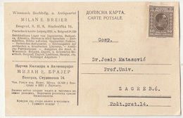 Yugoslavia Kingdom SHS Milan E. Breier Beograd Company Card Travelled? 1927 B190220 - 1919-1929 Royaume Des Serbes, Croates & Slovènes