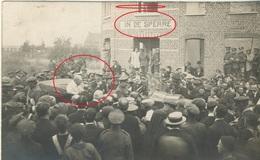 """Menen Menin Originele Fotokaart 1919 President Wilson En Koning Albert Herberg """" In De Sperre """" - Menen"""