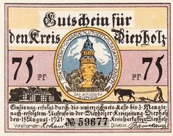 Billet Allemand - 50 Pfennig - Diepholz 1921 - Château, Bauer Avec Schwein Et Gans - Lokale Ausgaben