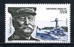 SPM Miquelon 2015 N° 1146 ** Neuf MNH Superbe Bateaux Sous-marin Personnalité Amiral Gauchet Portrait Baots - St.Pierre Et Miquelon