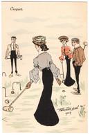 CPA - Illustrateur - Felix Jobbé Duval - Croquet - Autres Illustrateurs