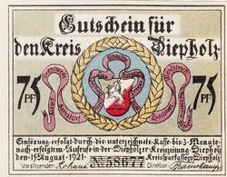 Billet Allemand - 50 Pfennig - Diepholz 1921 - L'eglise - Lokale Ausgaben
