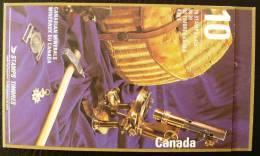 CANADA MINERAUX,  Yvert C 1273 Carnet 10 Valeurs. Emis En 1992. Neuf Sans Charniere. MNH - Minéraux
