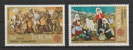 MiNr. 2355 - 2356  Türkei 1975, 28. April. Europa: Gemälde. - 1921-... Republik