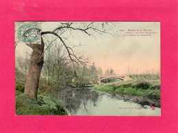 94 Val De Marne, Creteil, Bords De La Marne, Le Pont De Creteil, Colorisée, 1905, (F. Fleury) - Creteil