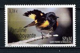 SPM Miquelon 2015 N° 1124 ** Neuf MNH Superbe Faune Oiseaux Paruline Flamboyante Birds Animaux - St.Pierre Et Miquelon