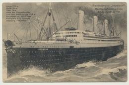 AK  Riesendampfer Imperator Hamburg Amerika Linie - Dampfer