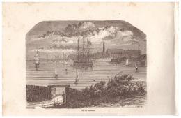 1844 - Gravure Sur Bois - Lorient (Morbihan) - Vue Générale - FRANCO DE PORT - Prints & Engravings