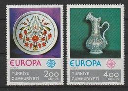 MiNr. 2385 - 2386  Türkei 1976, 3. Mai. Europa: Kunsthandwerk. - 1921-... Republik