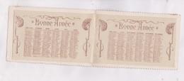 CALENDRIER CARTE POSTALE EN 2 VOLETS ANNEE 1909!, AVEC PHOTO FILLE , - Calendriers