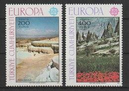 MiNr. 2415 - 2416  Türkei 1977, 2. Mai. Europa: Landschaften. - 1921-... Republik