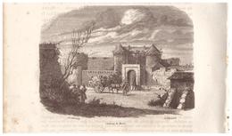 1844 - Gravure Sur Bois - Brest (Finistère) - Le Château - FRANCO DE PORT - Prints & Engravings