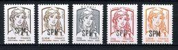 SPM MIQUELON 2013  N° 1083/1087 ** Neufs MNH Superbes Marianne De Ciappa Et Kawena Série Courante - St.Pierre Et Miquelon