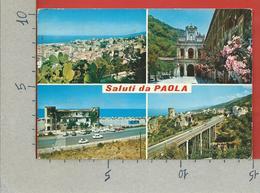CARTOLINA VG ITALIA - Saluti Da PAOLA (CS) - Vedutine Multivue - 10 X 15 - ANN. 1979 - Saluti Da.../ Gruss Aus...