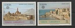 MiNr. 2443 - 2444  Türkei 1978, 2. Mai. Europa: Baudenkmäler. - 1921-... Republik
