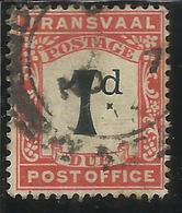 TRANSVAAL 1907 POSTAGE DUE SEGNATASSE TASSE TAXE ONE PENNY 1p USATO USED OBLITERE' - Sud Africa (...-1961)