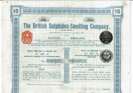GB-BRITISH SULPHIDES-SMELTING Cy. Titre De 10 Actions. UK - Other