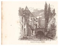 1844 - Gravure Sur Bois - Morlaix (Finistère) - La Maison De Moreau - FRANCO DE PORT - Prints & Engravings