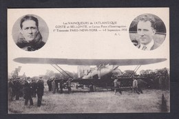 Aviation Les Vainqueurs De L' Atlantique Coste Et Bellonte Avion Point D' Interrogation Traversee Paris New York - Aviateurs