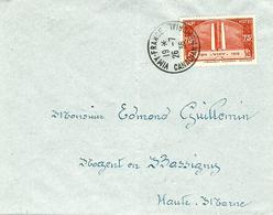 26-7-1936 -enveloppe  Affr. N° 316 SEUL  Oblit. VIMY-FRANCE / CANADIAN MEMORIAL  - 1er Jour D'émission - Postmark Collection (Covers)