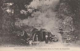 Chatillon S/Seine : Charbonniers Dans La Forêt De Chatillon. - Chatillon Sur Seine