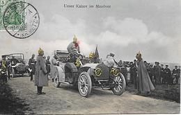 ALLEMAGNE -  1909 -  UNSER KAISER IM MANOVER - VOIR VERSO - Allemagne