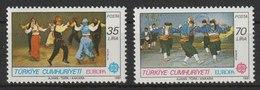 MiNr. 2546 - 2547  Türkei 1981, 4. Mai. Europa: Folklore. - 1921-... Republik