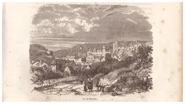 1844 - Gravure Sur Bois - Morlaix (Finistère) - Vue Générale - FRANCO DE PORT - Prints & Engravings