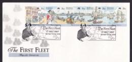 Australia 1987 The First Fleet Departure FDC - Arthur Phillip Pictorial Postmark - FDC