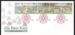 Australia 1988 The First Fleet Arrival FDC - Sydney Compass Postmark - FDC
