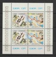 MiNr. 2600 - 2601 (Block 21) Türkei 1982, 26. April. Blockausgabe: Europa - Historische Ereignisse. - 1921-... Republik