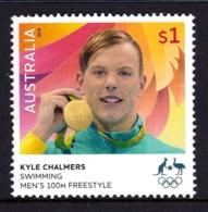 Australia 2016 Olympic Games $1 Gold Medal Swimming 100m Used - 2010-... Elizabeth II