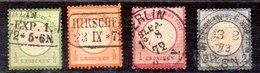 Sellos De Alemania Imperio Nº Yvert 14/17 (o) Valor Catálogo 45.0€ OFERA (OFFER) - Gebraucht