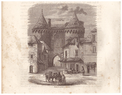1844 - Gravure Sur Bois - Vannes (Morbihan) - La Porte De Prison - FRANCO DE PORT - Prints & Engravings