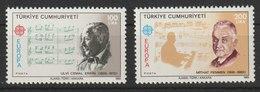 MiNr. 2706 - 2707  Türkei 1985, 29. April. Europa: Europäisches Jahr Der Musik. - 1921-... Republik
