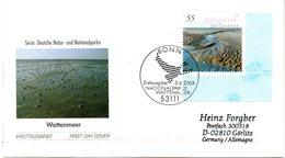 "BRD Schmuck-FDC  ""Naturparks Im Wattenmeer"", Mi. 2407 ESSt 3.6.2004 BONN - BRD"