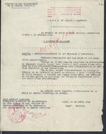 MILITARIA DOCUMENT MILITAIRE RECOMPENSES GUERRE 39/40 GÉNÉRAL BRIDOUX À LEBIGUE MÉDECIN ÉTREUX VICHY LIRE : - 1939-45