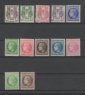FRANCE / 1945 / Y&T N° 670/681 ** : Chaînes Brisées & Cérès De Mazelin (12 Valeurs) - Gomme D'origine Intacte - Francia