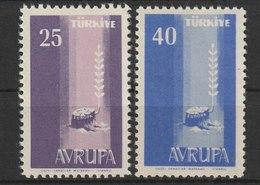 MiNr. 1610 - 1611  Türkei 1958, 10. Okt. Europa. - 1921-... Republik